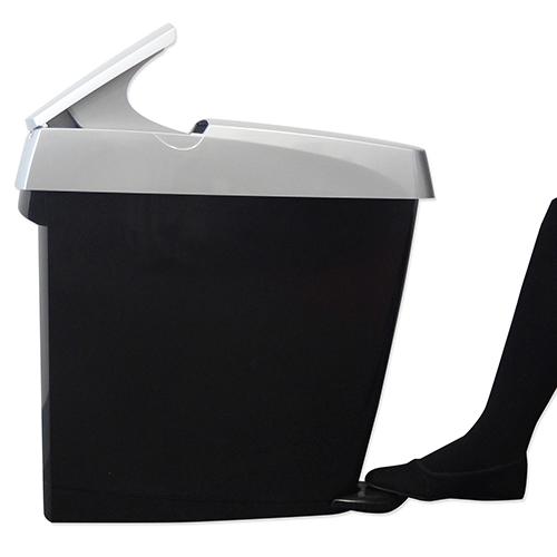 Sanitary Bins – White Pedal, Silver Black, Auto non touch